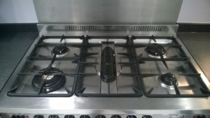 Hobs cleaning on restaurant cookers
